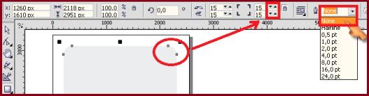 Cara memnghilang garis pinggir dan merubah sudut kotak menjadi melingkar