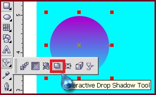 membuat efek bayangan pada bola kristal