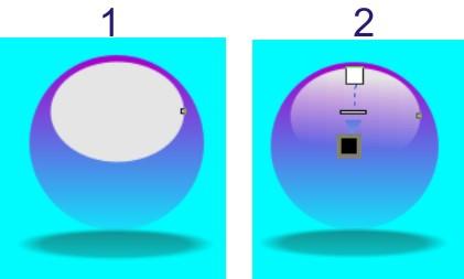membuat efek mengkilat pada bola kristal