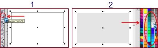 cara membuat kotak pada coreldraw