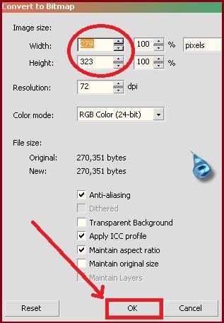 merubah ukuran file pada coreldraw