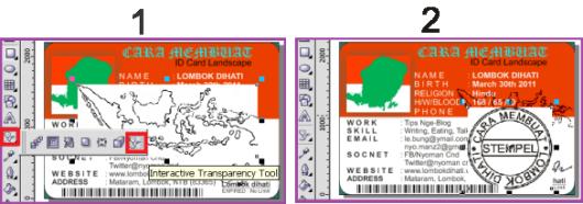 Menyisipkan gambar Peta dan Stempel Pada ID Card Landscape