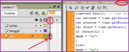 Membuat Jam Animasi Digital dan Kalender dengan Macromedia