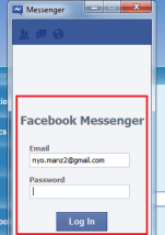 Halaman Login Facebook Messenger