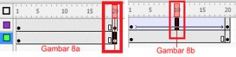 Membuat Gambar Animasi Bola Menggelinding 8a dan b